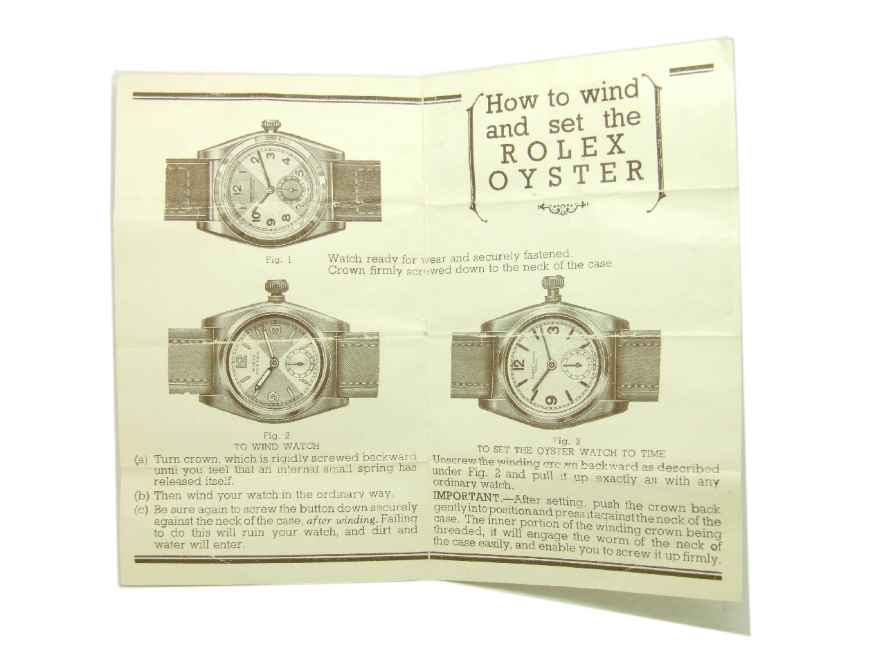 1938 Rolex Oyster Egyptian Art Deco Ladies Vintage Watch Vw504 The Diagram Of A Below Shows Case In Detail Lightbox