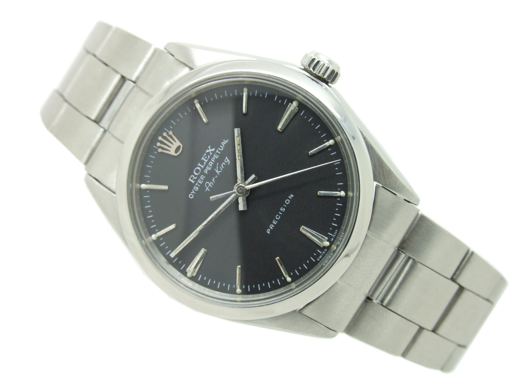 Sold 1968 rolex oyster perpetual air king vintage watch with box papers vw616 vintage for Vintage rolex oyster
