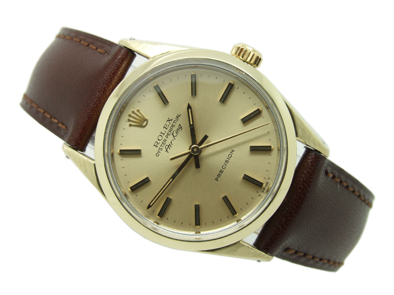 Sold 1971 Rolex 18ct Gold Capped Oyster Perpetual Air King Vw664 Vintage Winders