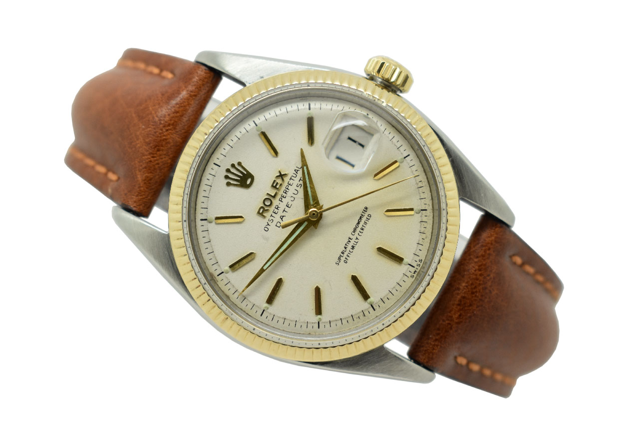 16597e80f9e SOLD - 1957 18ct Gold & Stainless Steel Rolex Oyster Perpetual ...