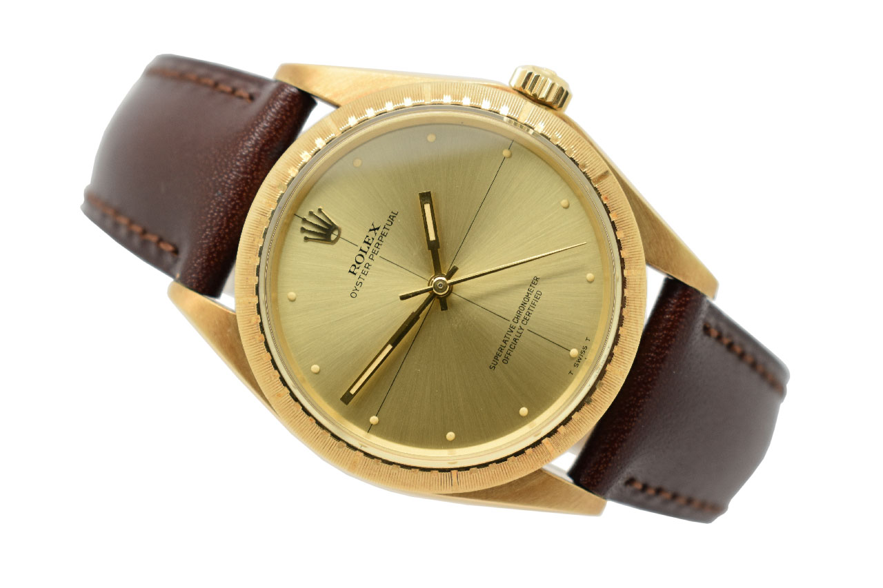 SOLD , 1969 14ct Gold Rolex Oyster Perpetual Chronometer Zephyr (VW726)